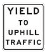 yield to uphill traffic